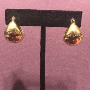 Wide hoop pierced earrings.  2/$10 Sale